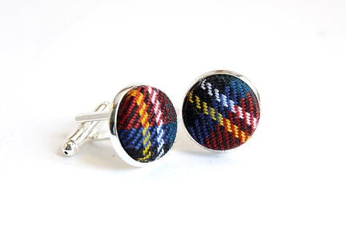 Royal Stewart Tartan Cufflinks