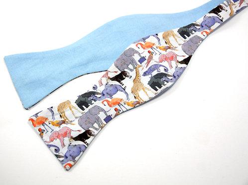 Queue for the Zoo Liberty Print 'Gentleman' Bow Tie