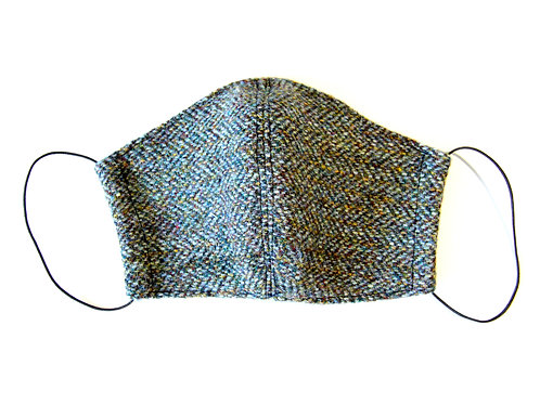 Harris Tweed Green/Brown Herringbone Face Mask
