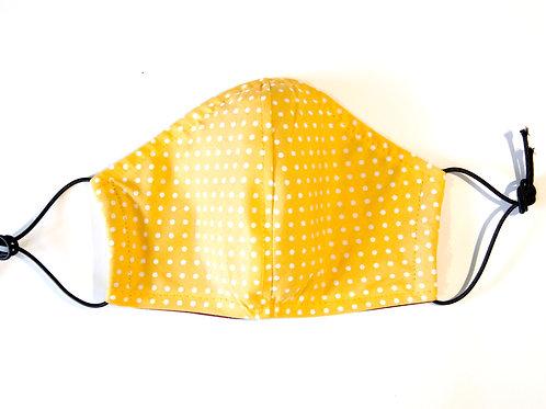 Cotton Face Mask - Yellow Polka Dot