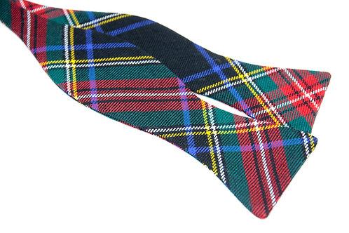 Black Stewart Modern Tartan 'Gentleman' Bow Tie (Classic)