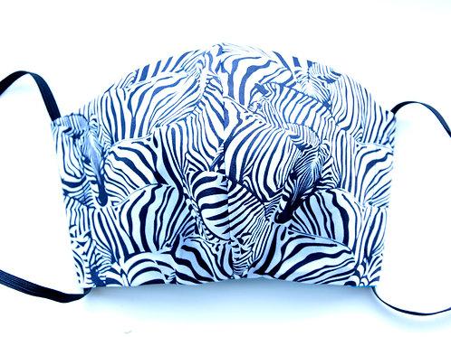 Cotton Face Mask - Zebra