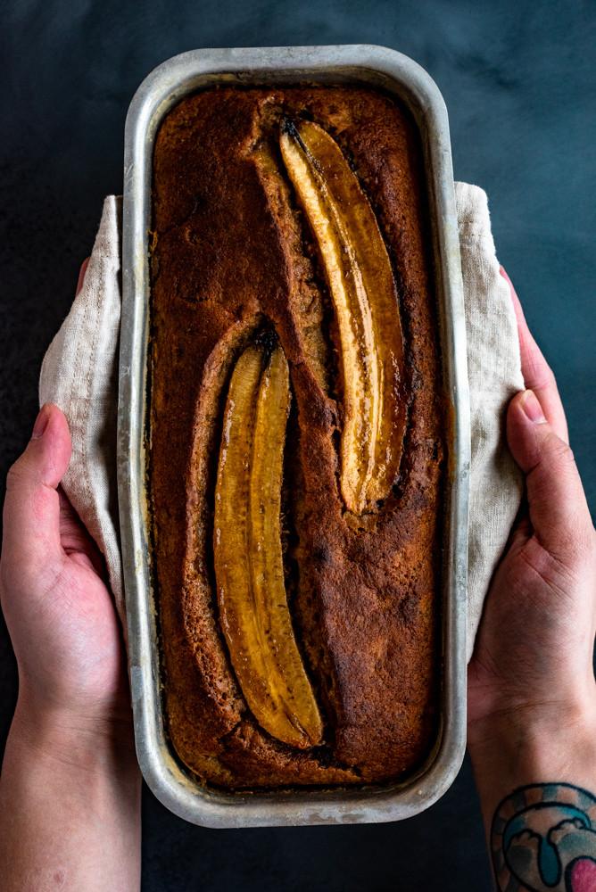 Delicious food photography: Banana bread