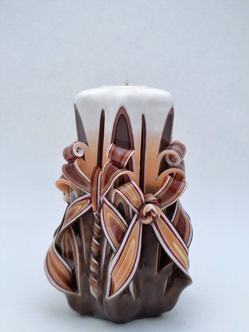 Autumn Brown Small Centerpiece Double Bow