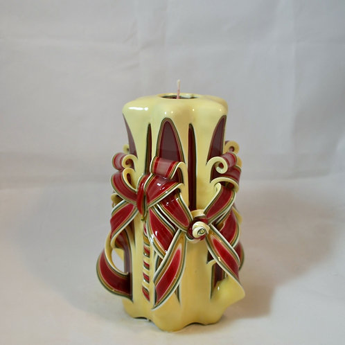 Ivory Christmas Small Centerpiece Double Bow