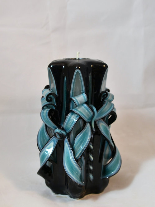 Teal & Black Small Centerpiece Double Bow