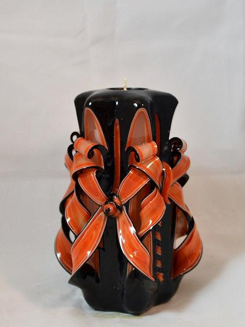 Orange & Black Small Centerpiece Double Bow