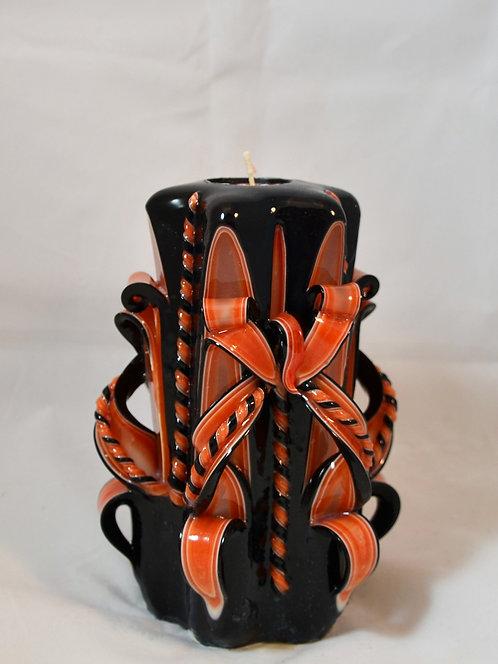 Orange & Black Small Centerpiece Single Bow