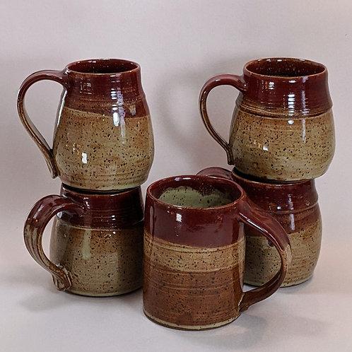 Speckled Cream & Firebrick Mugs