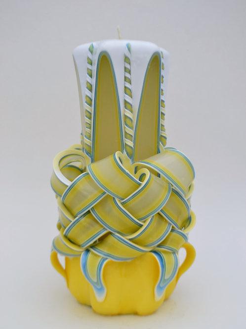 Yellow Shaded Medium Centerpiece Basket