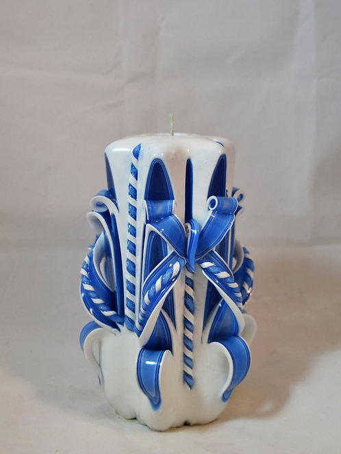 Country Blue Small Centerpiece Single Bow