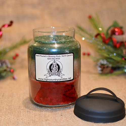 Fraser Fir, Peppermint, Christmas Cheer Combination  26 Ounce Jar