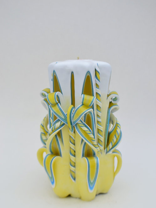 Yellow Shaded Small Centerpiece Single Bow
