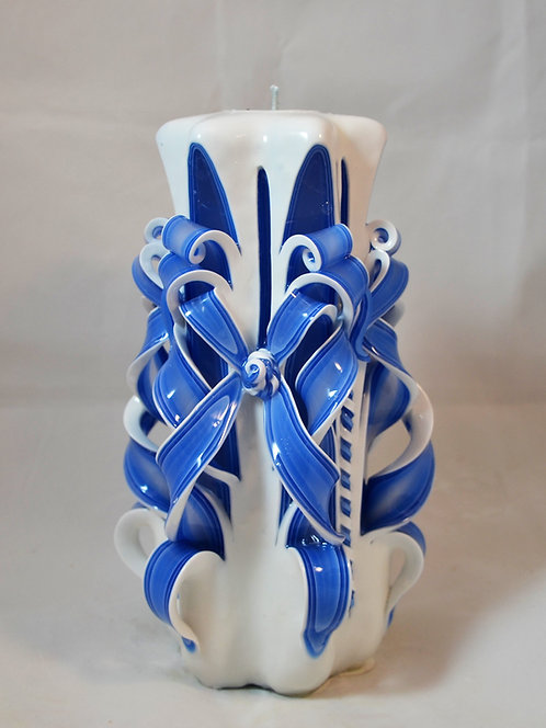 Country Blue Medium Centerpiece Double Bow