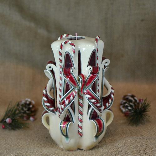 Ivory Christmas Small Centerpiece Single Bow