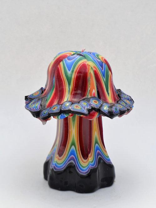 Rainbow & Black Mushroom