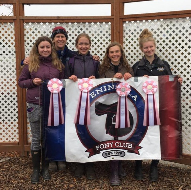 Ann with Penisula Pony Club at Show Jump rally 2018