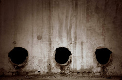 3 Holes, 2005, 27.5'' x 41''