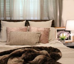 Bedroom Touch Up, Soft Pink and Calming environment