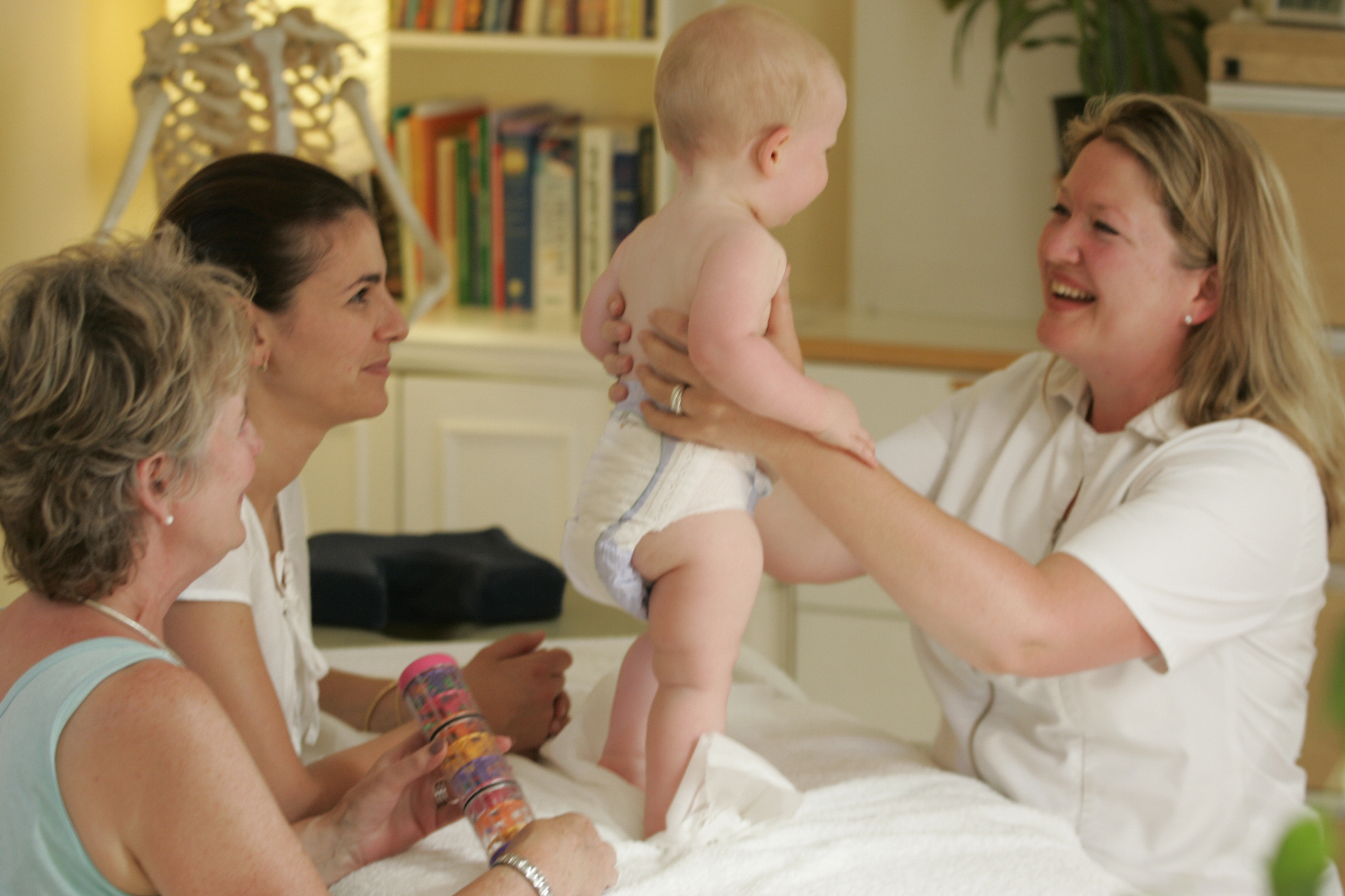 Osteopathic Examination of a toddler