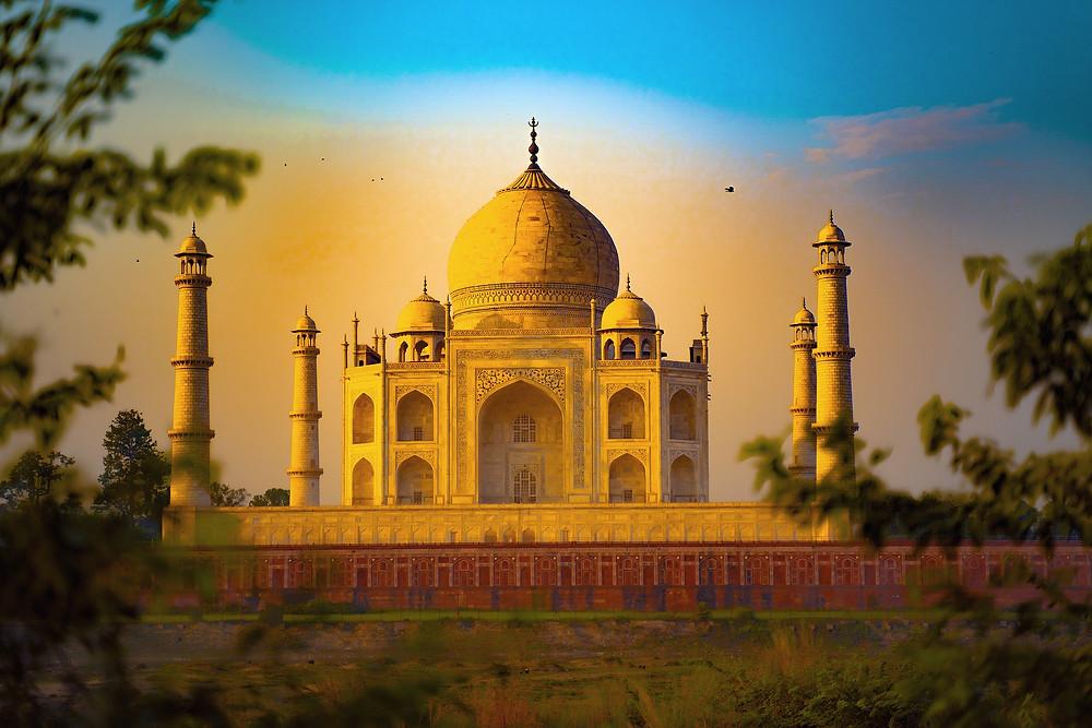 הטאג' מאהל שבאגרה הודו בשקיעה
