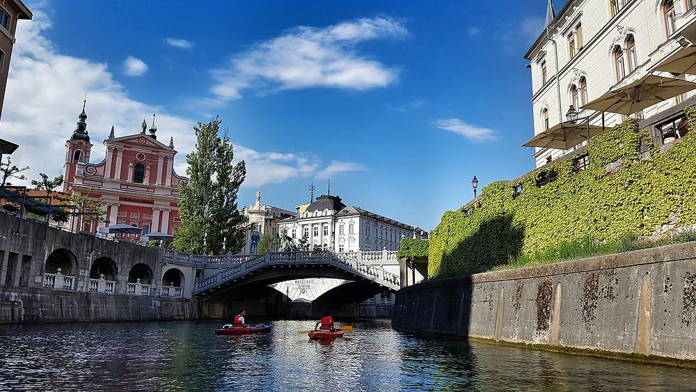 לובליאנה בירתה של סלובניה יושבת על צומת דרכים של מדינות באירופה