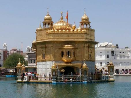 מקדש הזהב באמריצר שבחבל פנג'ב בצפון הודו
