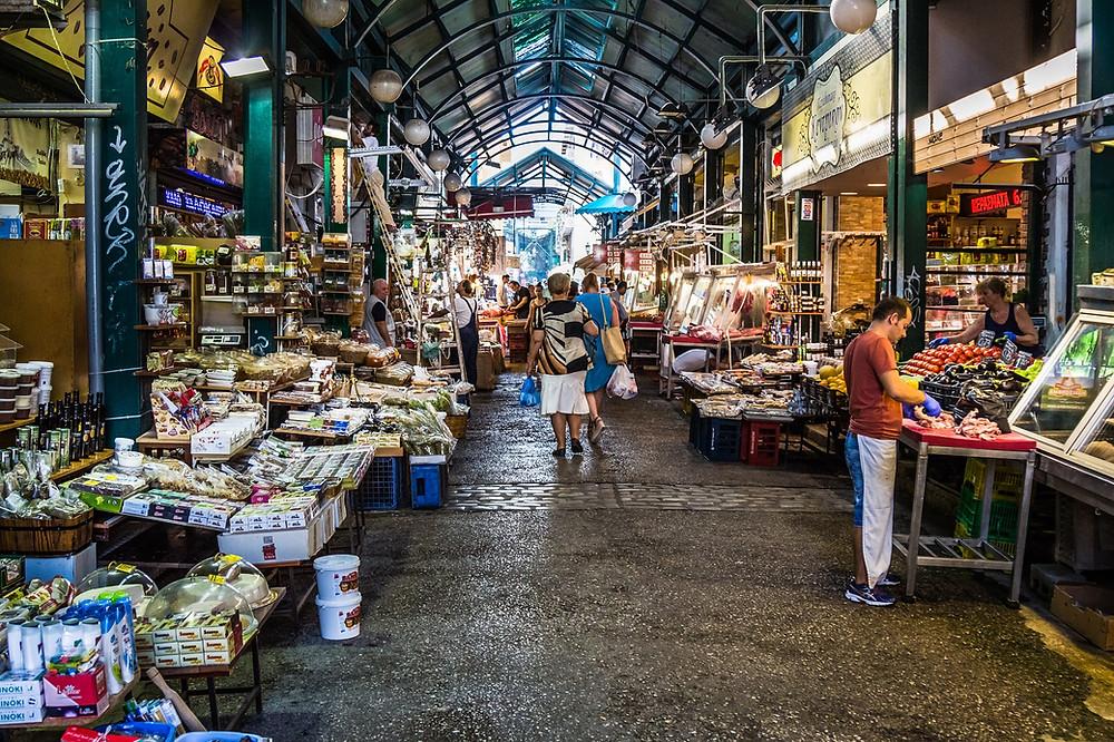 סלוניקי קניות בשוק
