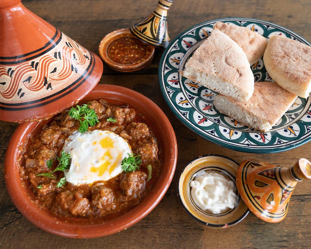 ארוחה אוטנטית במרקש מרוקו בטאג'ין