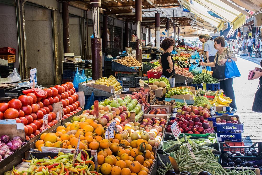 אתונה שווקים עם כל טוב הארץ