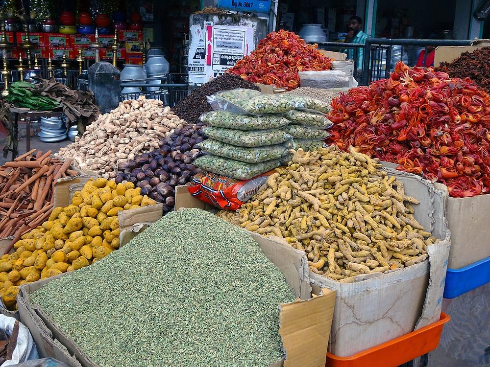 שוק התבלינים בקוצ'ין מדינת קרלה הודו