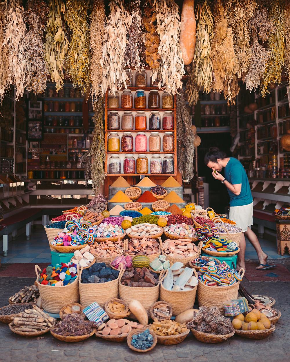 מרקש שבמרוקו אטרקציות שווקים