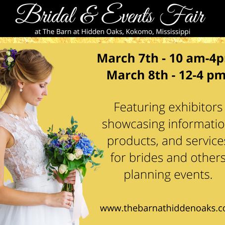 First Annual - BRIDAL & EVENTS FAIR!