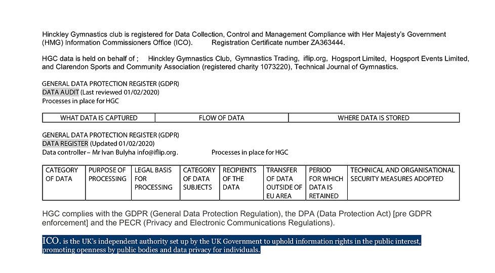 Data Compliance registration ICO (Update