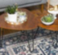 WE Furniture Hairpin Leg Wood Nesting Co