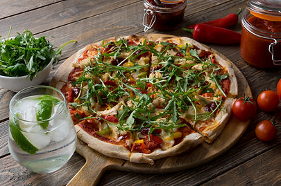 (Food And Beverage Solutions) Doughboys Stone Baked Pizza: Chicken, Peppers & Chilli Jam