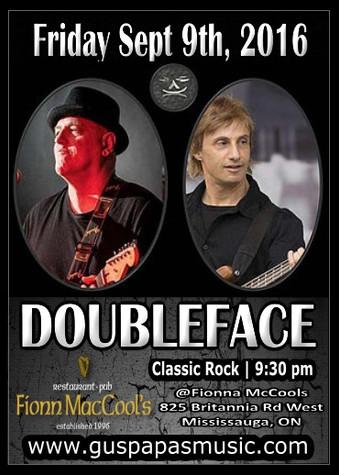 Fri.9th.Sep.16 @ Fionn MacCools (Doubleface Band)