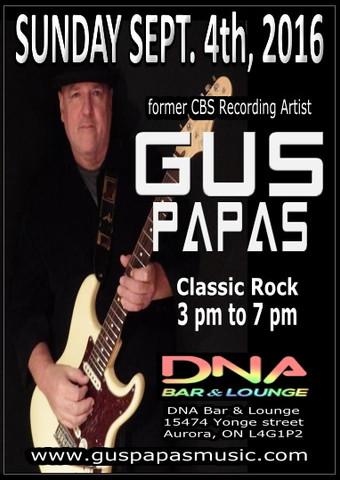 Sun.4th.Sep.16 Gus Papas @ DNA Bar & Lounge