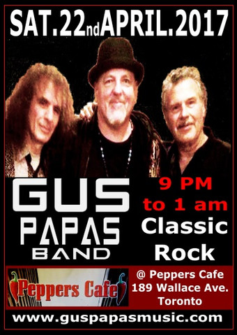 Sat-22-Apr-2017 @ Peppers Cafe, Toronto from 9:00 pm – 12:00 pm