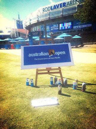 Australian Open Signage for the Tennis Channel