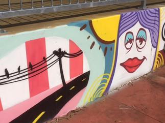 Box Hill Skate Park Mural