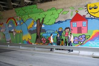 Monash Freeway Upgrade Mural