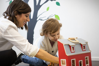 Playing is an important part of speech therapy, language and learning