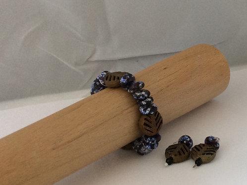 Krobo Disc & Brass bead set