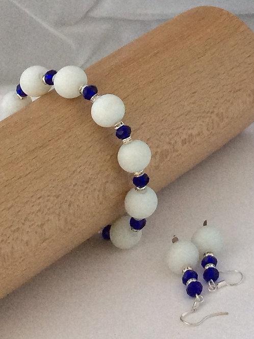 Crystal Elegance Collection Bracelet and Earring Set