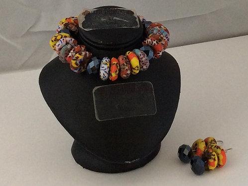 Krobo and glass bead set