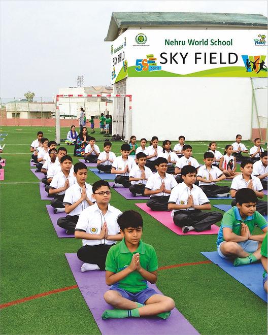 Nehru World School Ghaziabad Yoga Class