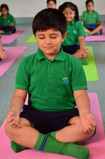 Nehru World School Ghaziabad Students at Yoga