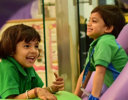 Nehru World School Ghaziabad happy students