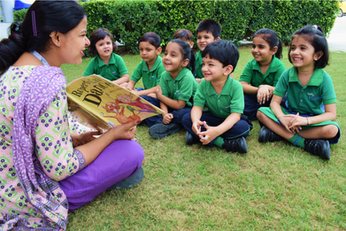 Nehru World School Ghaziabad outdoor classroom